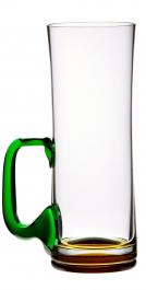 Sklenice na pivo se zeleným uchem 500 ml